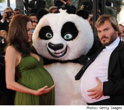 kung-fu-panda-jack-black-angelina-jolie-pregnant-express-belly-bump-stomach- ...