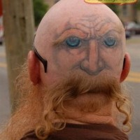 head Funny_tattoos art