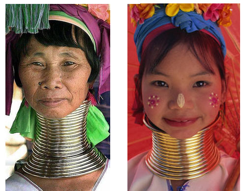 10 Most Bizarre Body Modifications - FunCage African Neck Rings Before And After