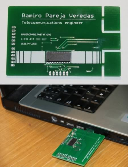 15 of the coolest business cards funcage a telecom engineer presents his technical expertise with a functional circuit board in his business card if a potential employer breaks off the extra colourmoves
