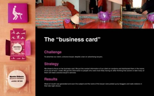 15 of the coolest business cards funcage a divorce mediator uses condoms to show off his service these cards are meant to be placed in sleazy hotel rooms and hopefully not passed around the colourmoves