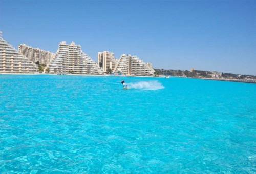 World 39 s largest swimming pool in san alfonso del mar - The biggest swimming pool in chile ...