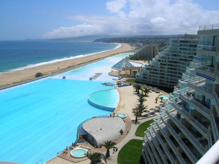 Worlds Largest Swimming Pool In San Alfonso Del Mar Resort In Chile 020 Funcage