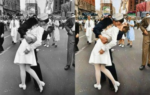 Vj day at the Times Square