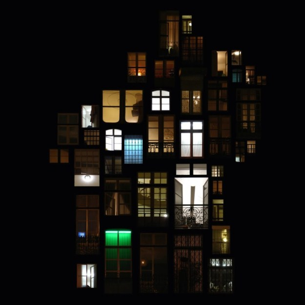 Night windows in collages of anne laure maison 008 funcage for Anne laure maison