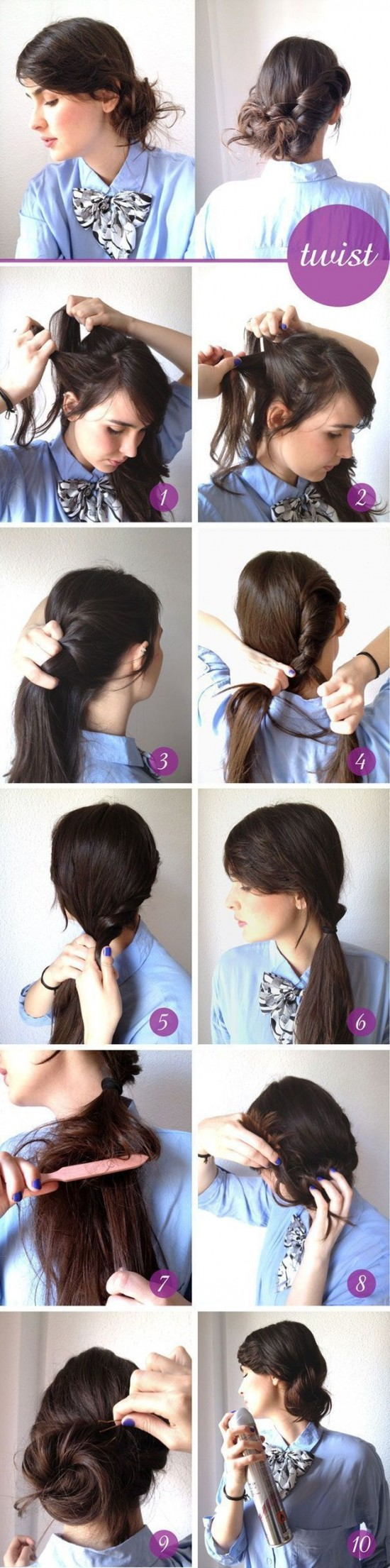 Creative Hairstyles That You Can Easily Do at Home (27 Photos ...