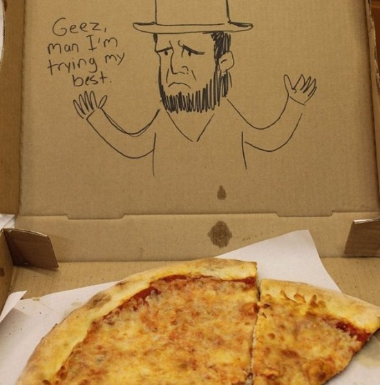 8 Funny Pizza Box Drawings - FunCage