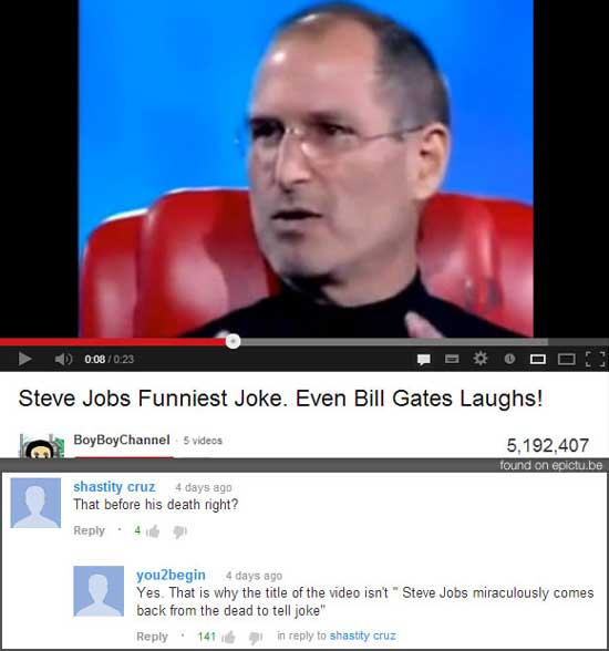 Image of: Dora 21hilariousyoutubecomments006 Funcage 21 Hilarious Youtube Comments Funcage