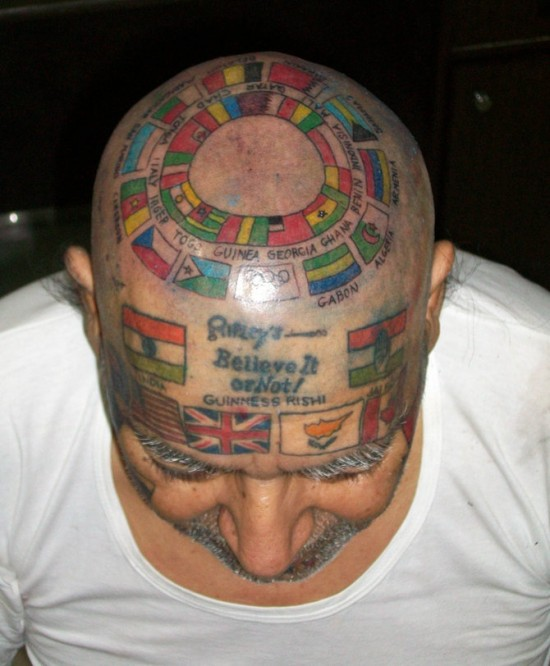12 Weird and Funny Head Tattoos - FunCage