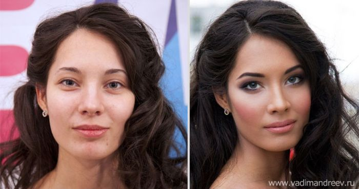 Before after makeup