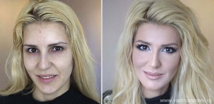 Right! seems woman before and after makeup