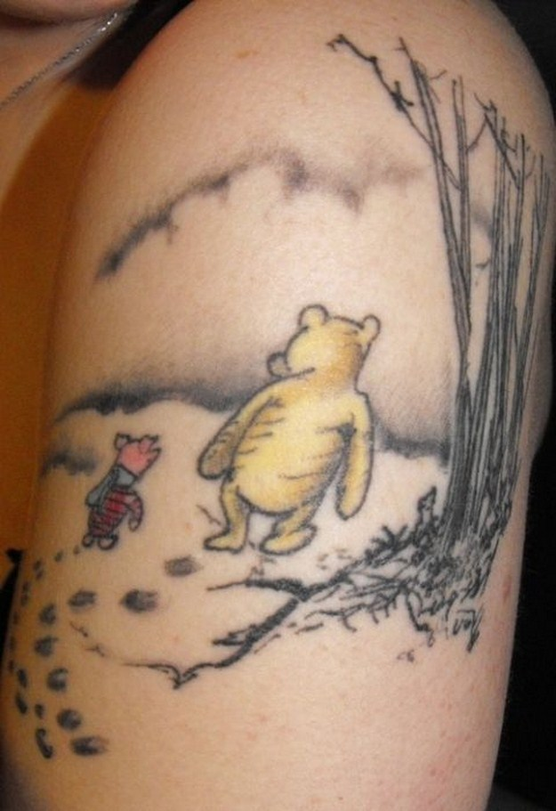Awesome disney tattoos 021 funcage for Winnie the pooh tattoo
