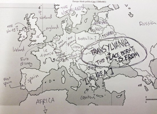 Label A Map Of Europe.Americans Try To Label European Countries On A Map Funcage