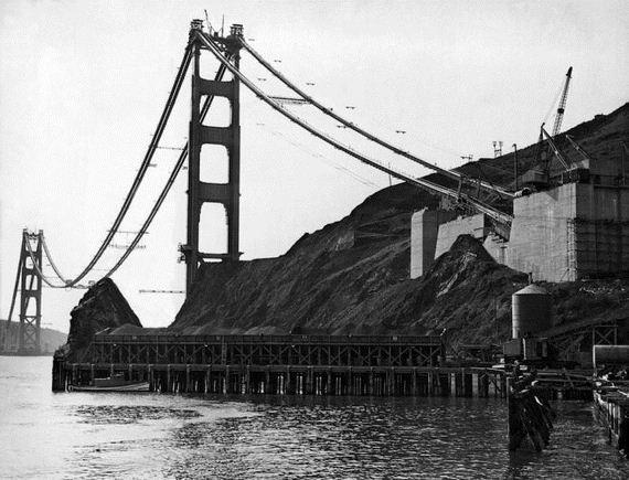 The Golden Gate Bridge Construction 9 Photos Funcage
