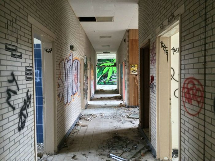 Graffiti Inside an Abandoned Nursing Home 019