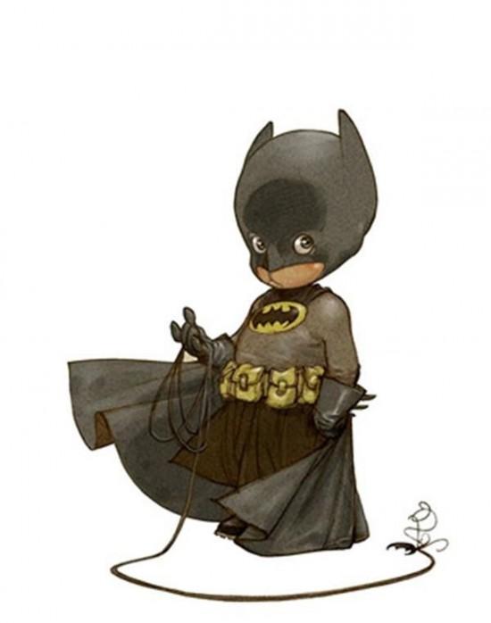 Superheroes Illustrated as Little Kids 001