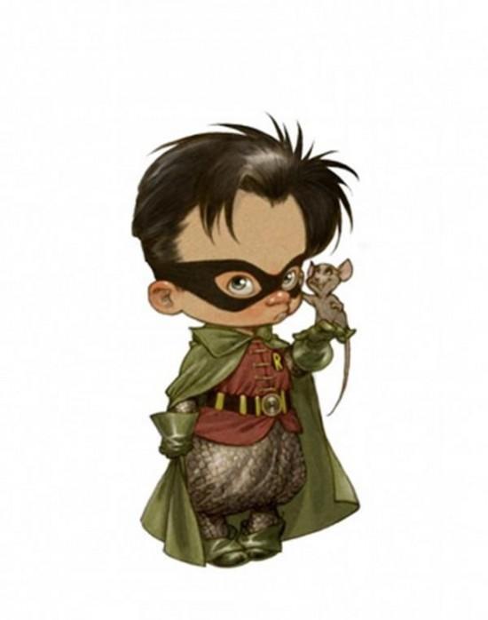 Superheroes Illustrated as Little Kids 003