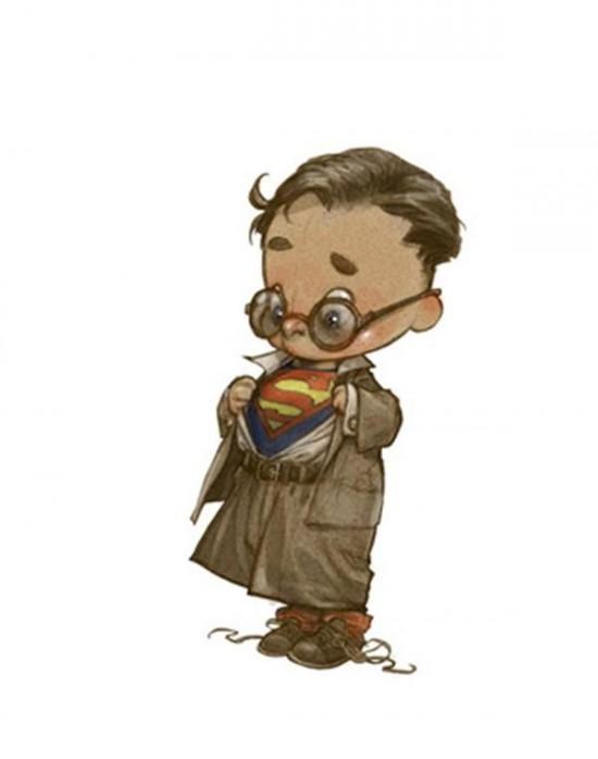 Superheroes Illustrated as Little Kids 008