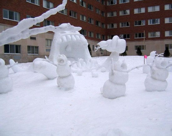 22 Funny and creative snowman ideas 010