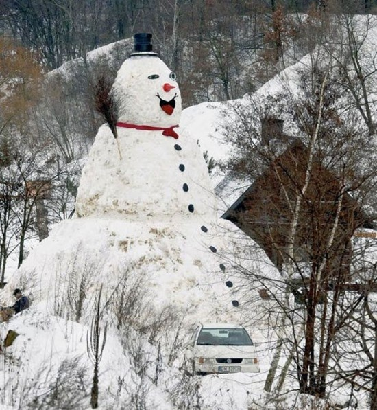 22 Funny and creative snowman ideas 013