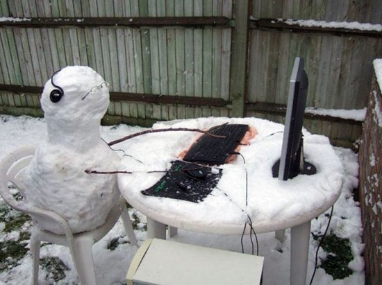 22 Funny and creative snowman ideas 014