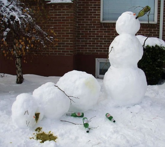 22 Funny and creative snowman ideas 015