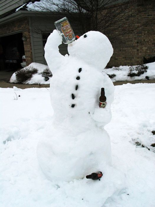 22 Funny and creative snowman ideas 017