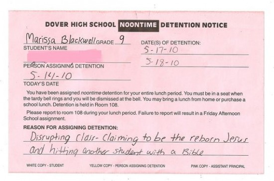The Funniest Reasons a Student Has Ever Gotten Detention 016