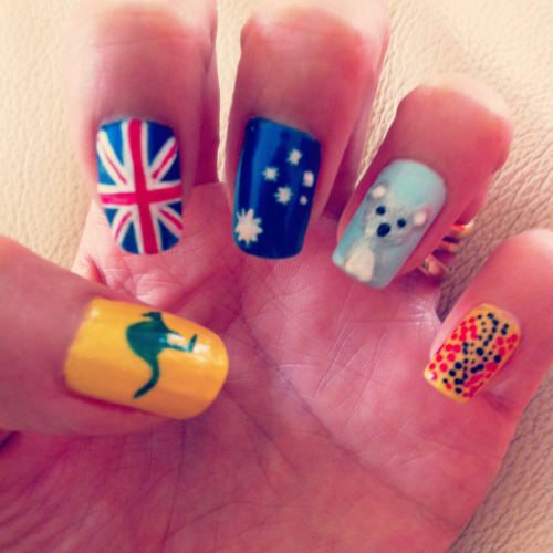 17 Awesome Nail Art Designs For Australia Day Funcage