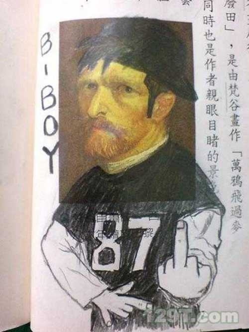 22 Hilariously Defaced Textbooks 016