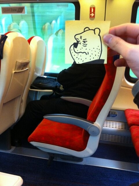 This Guy Has a Funny Solution For Avoiding Boredom On His Commute 004