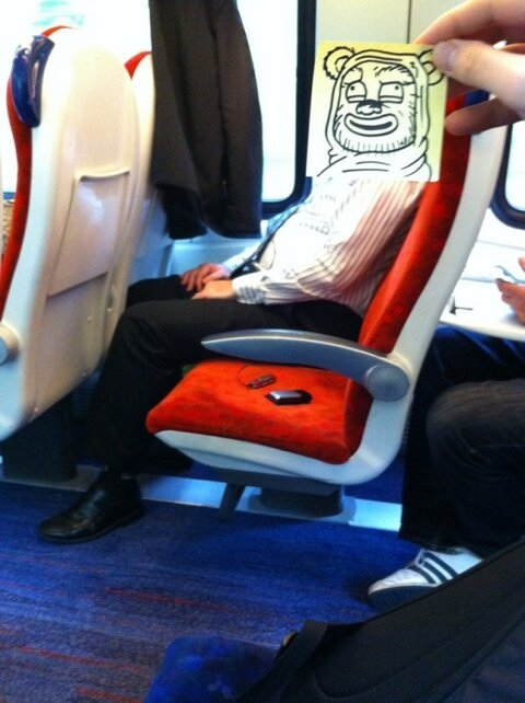 This Guy Has a Funny Solution For Avoiding Boredom On His Commute 005