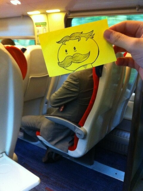 This Guy Has a Funny Solution For Avoiding Boredom On His Commute 006
