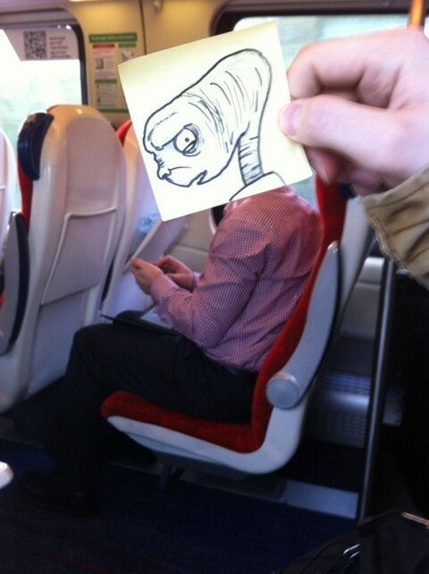 This Guy Has a Funny Solution For Avoiding Boredom On His Commute 013