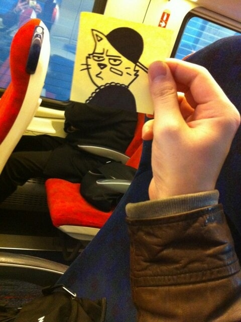 This Guy Has a Funny Solution For Avoiding Boredom On His Commute 018