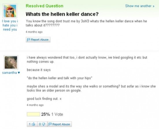 Related Pictures 20 funny yahoo answers questions