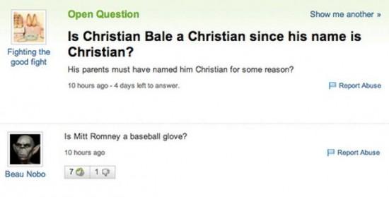 20 Funny Yahoo Answers 011