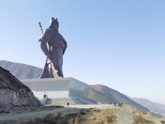 Guan Yu Statue. Yuncheng, China, 80 m