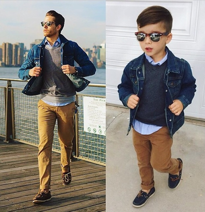 Adorable 4-Year-Old Boy Mimics Male Fashion Models (12