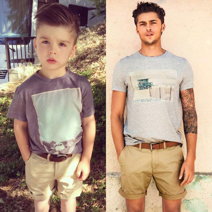 Adorable 4-Year-Old Boy Mimics Male Fashion Models (12 Photos)