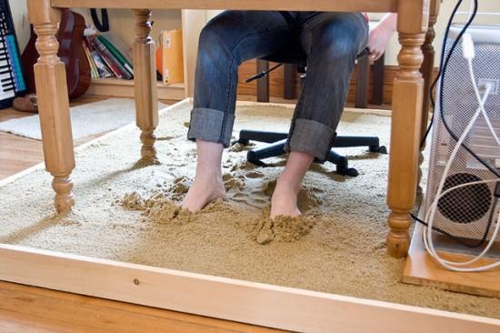 Beach Sand Under Your Work Desk1