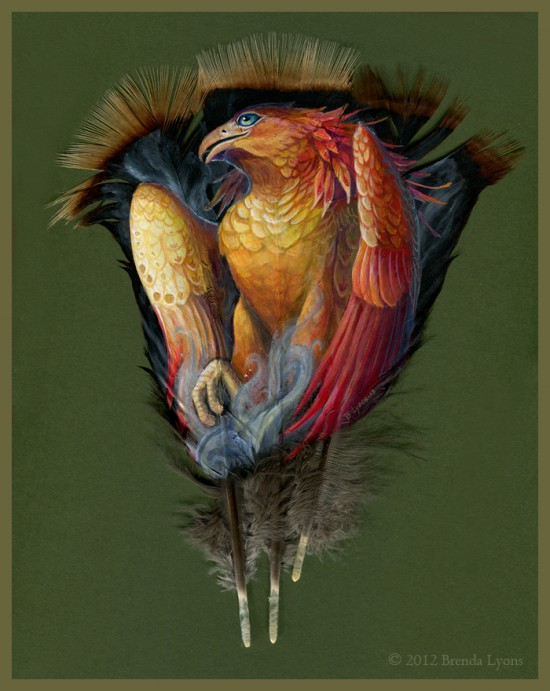Gorgeous Animal Portraits Painted on Wild Turkey Feathers 001