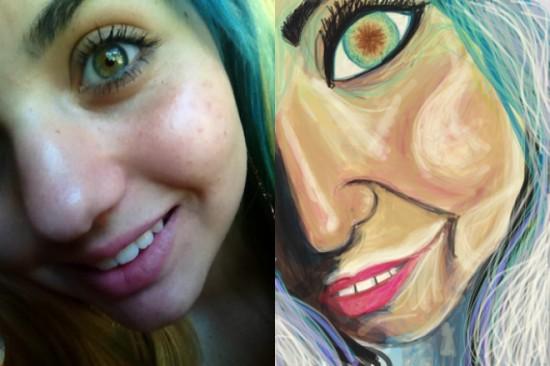 Parody Drawings of Selfies 001
