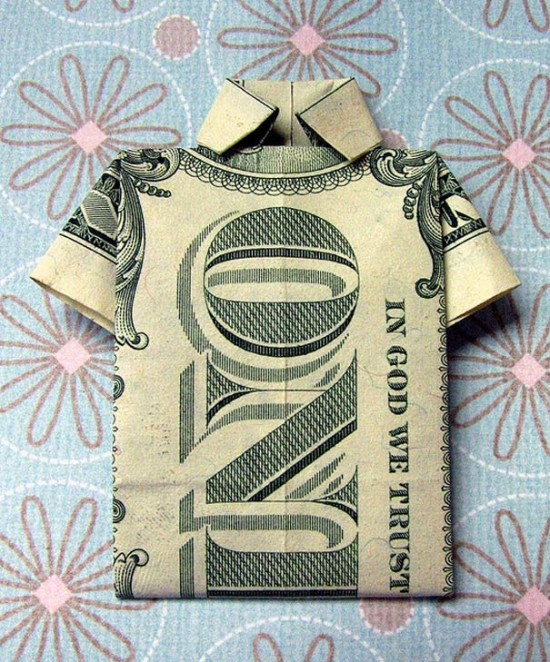 20 Cool Examples of Dollar Bill Origami 001