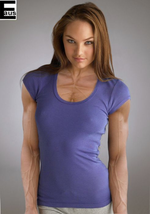 20 Female Celebs With Weird Photoshopped Muscles 001