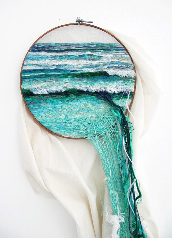 Embroidered Landscapes and Plants by Ana Teresa Barboza 001
