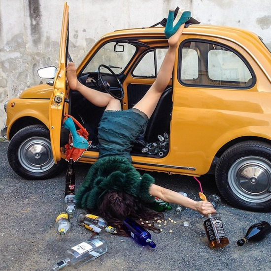 Hilariously Contrived Accidents of People Consumed by Material Goods 010