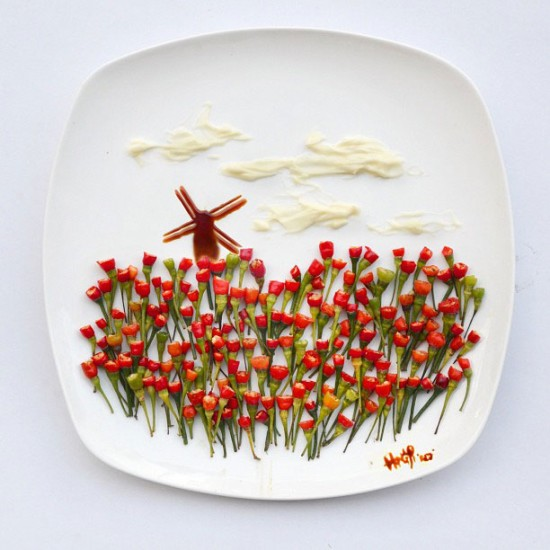 Painting with Food by Red Hong Yi 008