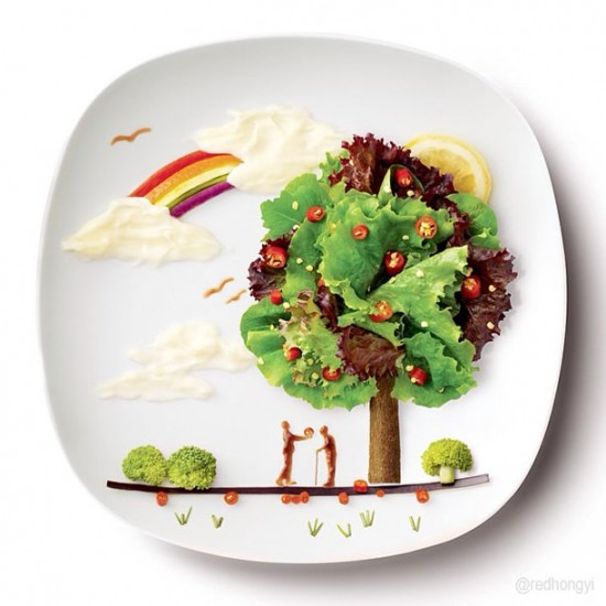 Painting with Food by Red Hong Yi 010