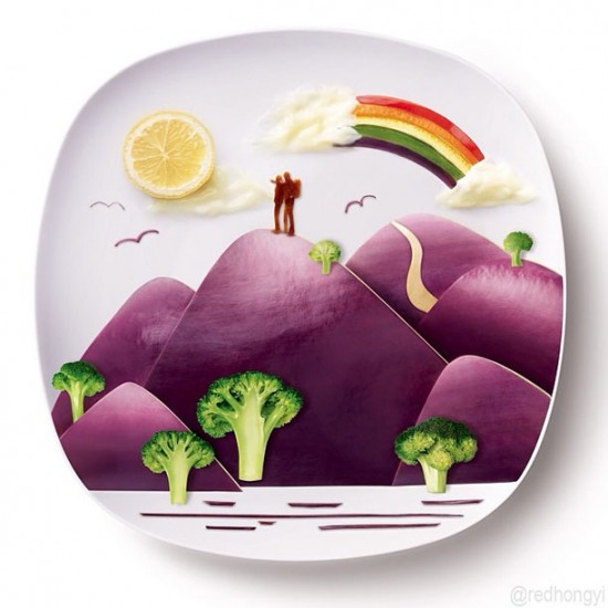 Painting with Food by Red Hong Yi 011